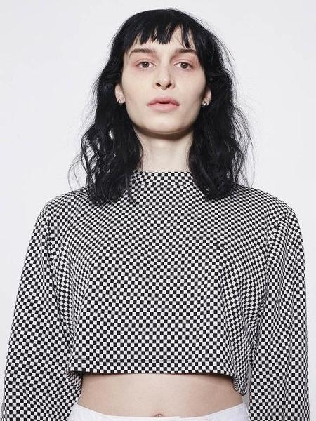 Locle By Low Classic CHECK TOP - BLACK