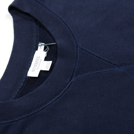 Sunspel Loopback Sweatshirt - Navy