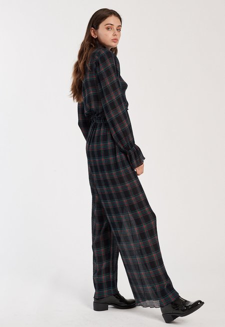 Fifth Label Zone Tartan Top  - Navy Checks