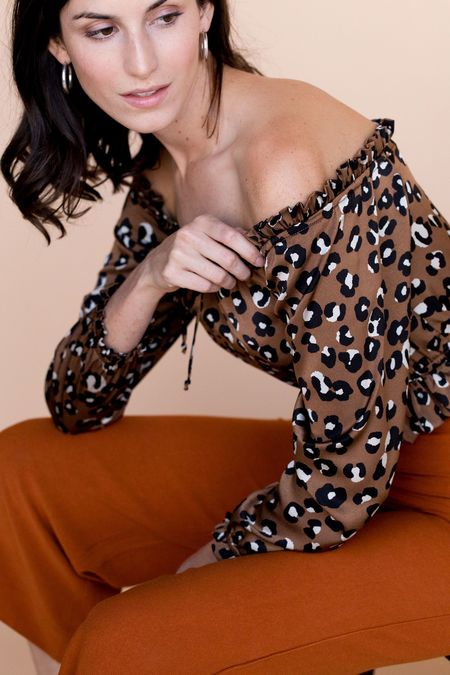 BETWEEN TEN Onyx Blouse - Leopard