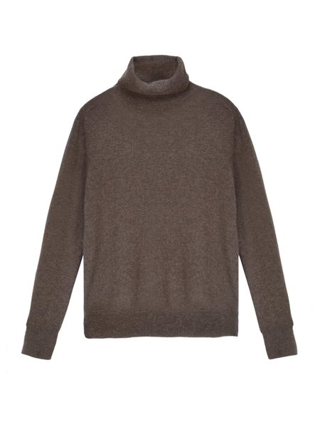 PURE CASHMERE NYC Turtleneck Sweater - Cocoa Brown