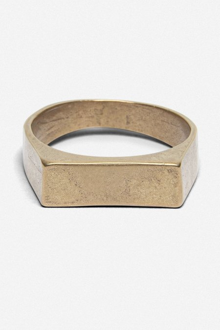 House of St. Clair SIGENT BAR RING - GOLD BRONZE