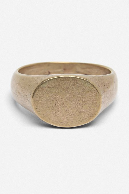 House of St. Clair SIGNET OVAL RING - GOLD BRONZE