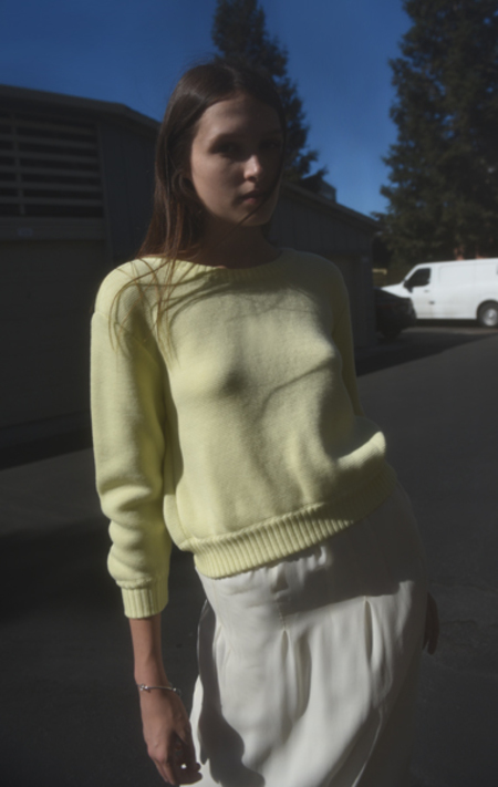Veronique Leroy Cropped Wool Pullover - YELLOW