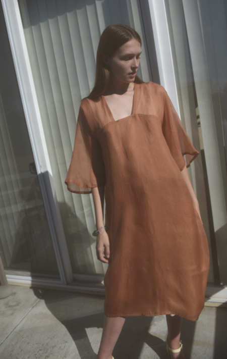 Bianca and Red Studio Wave Dress - Copper