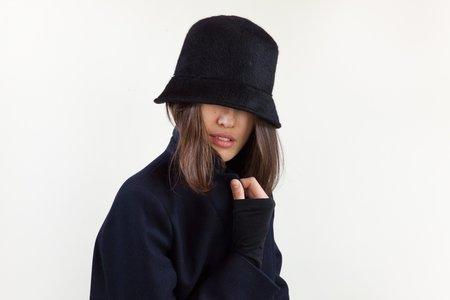 Clyde Batta Angora Hat - Black