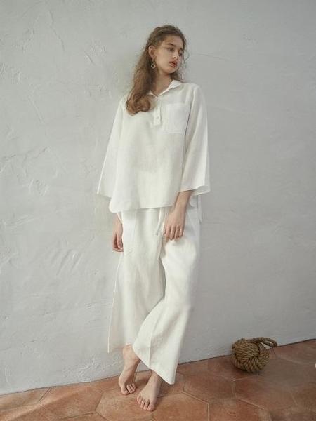 Akro Linen Shirt Two Piece