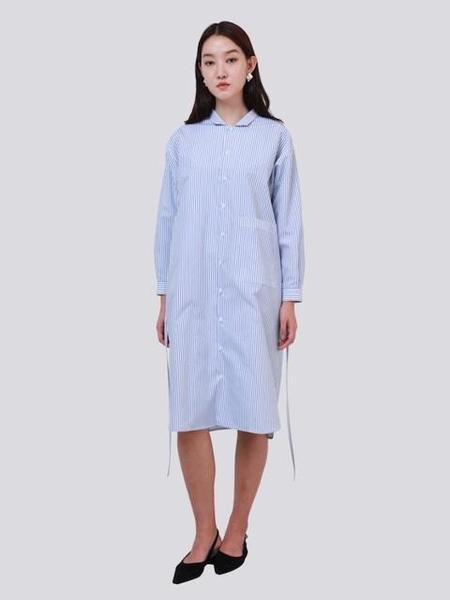 HALOMINIUM Stripe Shirt Dress - Blue
