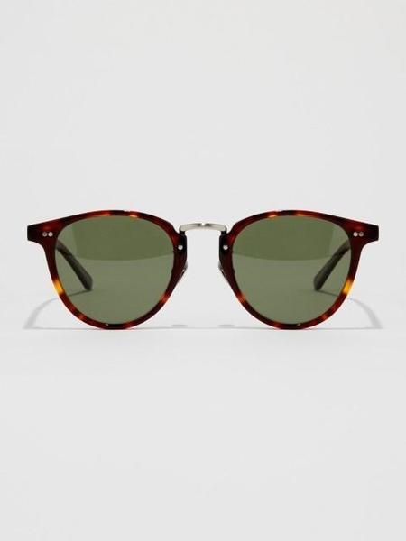 Unisex BVH Bold Frame Round Sunglasses - Demi Green
