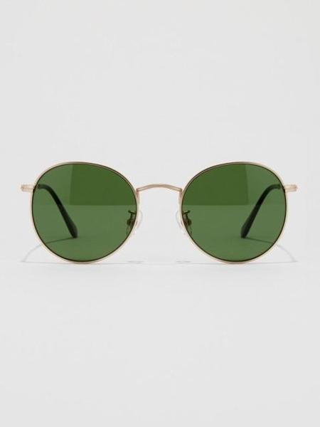 Unisex BVH Round Sunglasses - Gold/Green