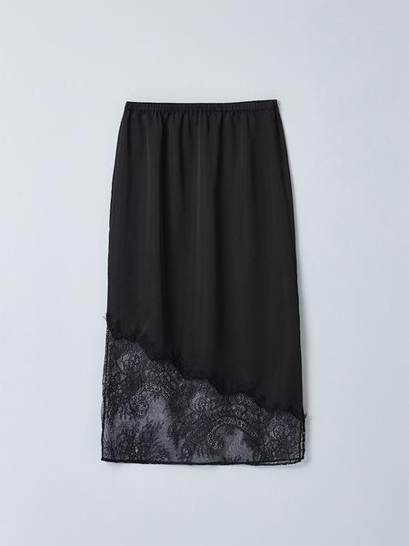 JAIN SONG Unbalanced Cutting Lace Skirt