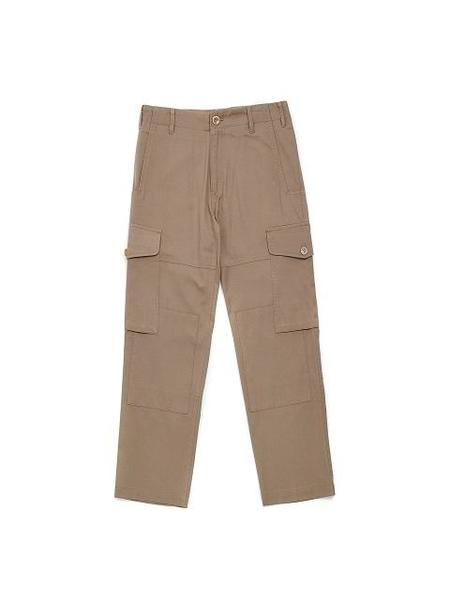 BEYOND CLOSET COLLECTION Button closure Zip Fly Pants - Beige