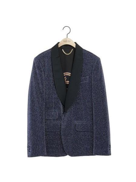 BEYOND CLOSET COLLECTION Flap Pocket Single Jacket - Purple
