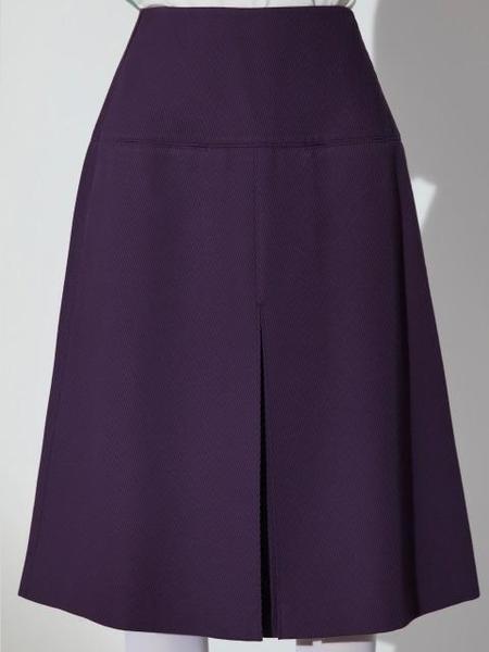 AHEIT Inverted Pleats A Line Skirt - Purple