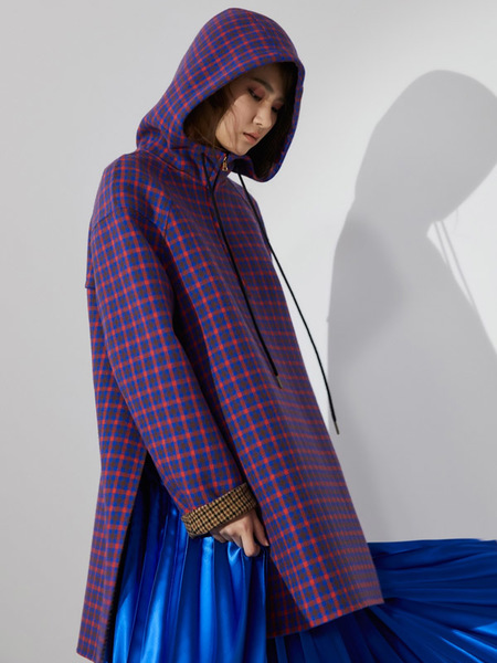 AHEIT Hooded Handmade Outer Pullover - Blue