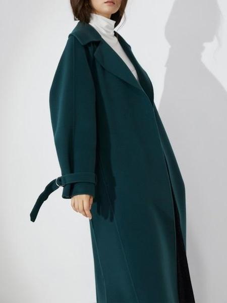AHEIT Volumed Sleeve Handmade Coat - Turquoise