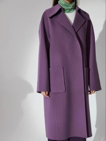 AHEIT Outpocket Oversized Handmade Coat - Purple