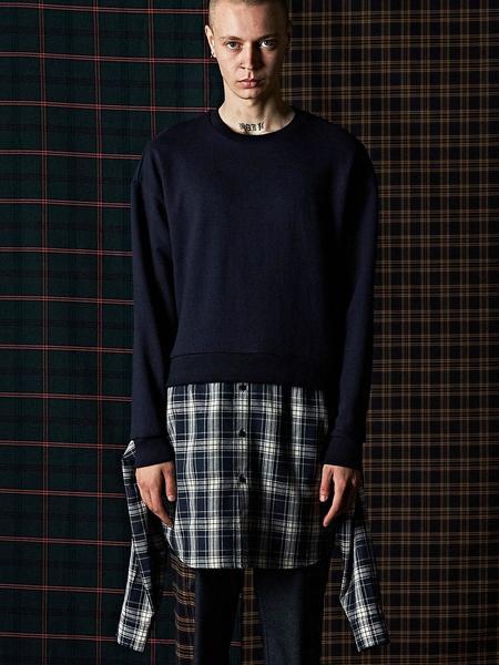 DBSW Layered Shirt Sweatshirt - Navy