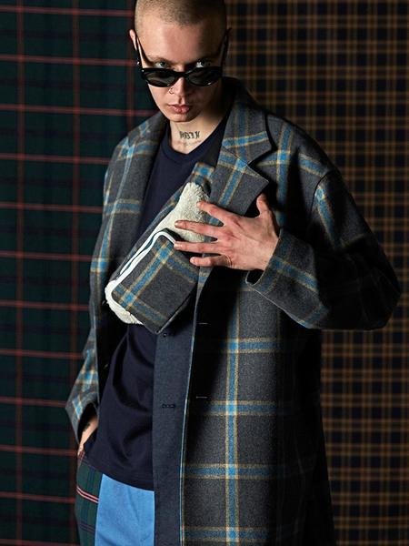 DBSW Two Way Check Coat - Gray