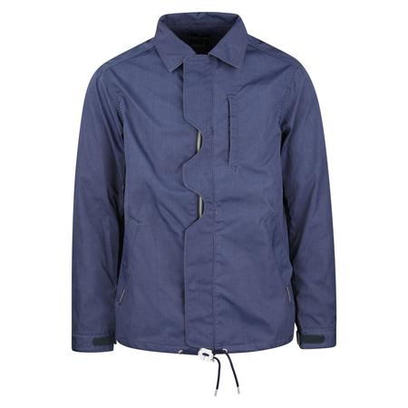 Meanswhile Blackboard Cloth Odd Flap Coach Jacket - DEEP SEA