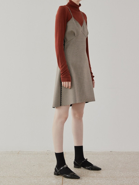 ISSUE NUMBER 4.9 Check Dress - BROWN
