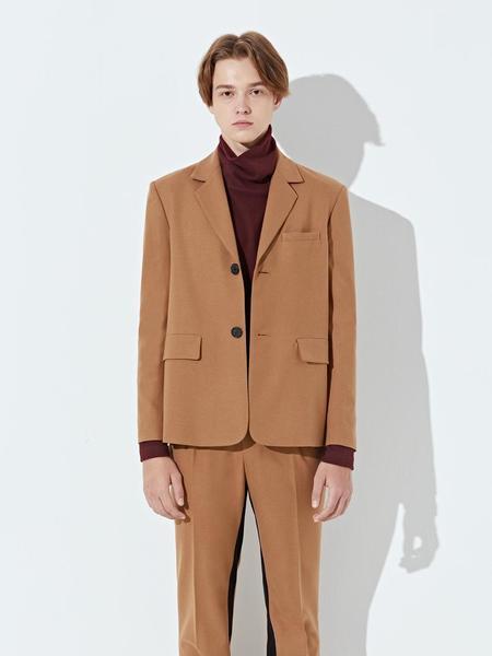DEFOND Gabardine Two Button Jacket - Camel