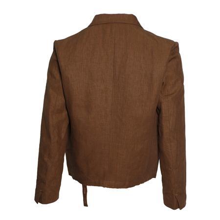 Sasquatchfabrix. Short Length Lapel Jacket - Brown
