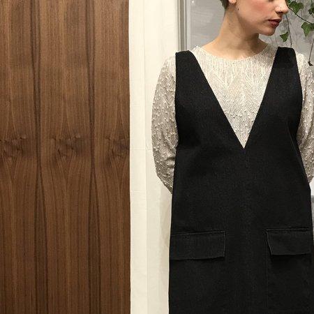 Odeyalo Darling Denim Dress - Black
