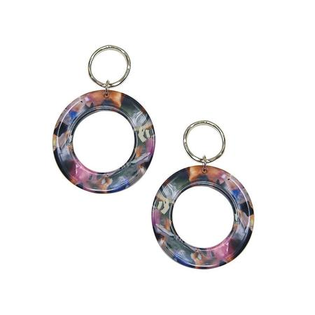 Strut Jewelry Lucite Large Circle Earrings