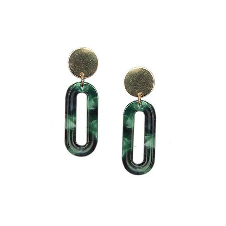 Strut Jewelry Lucite Longline Oval Earrings