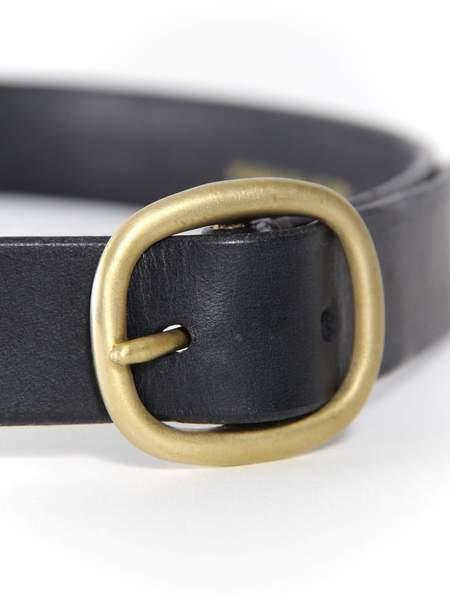 Maximum Henry Wide Oval Belt - Black/Brass