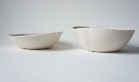 Ovo Ceramics Short  Bowl - White Linen
