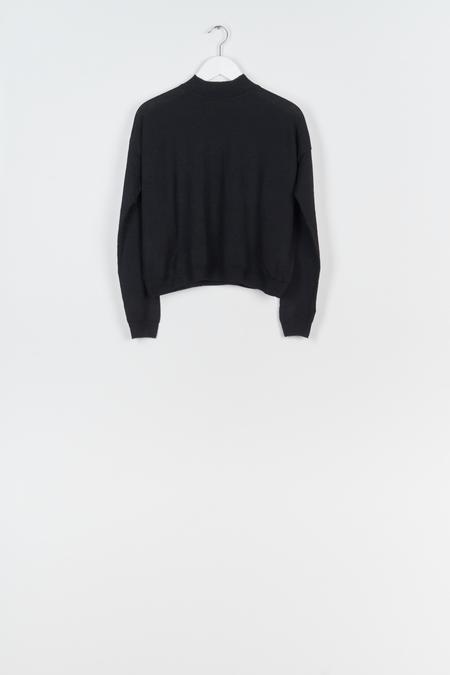 Jungle Folk Arvo Mock Neck  Sweater - Black
