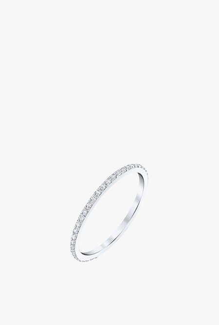 Gabriela Artigas Axis Ring with Pave Diamonds - 14k White Gold