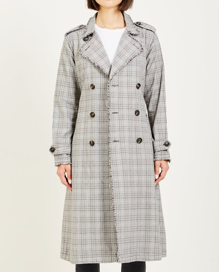 NSF DORIAN UNLINED TRENCH COAT - CERNAY PLAID