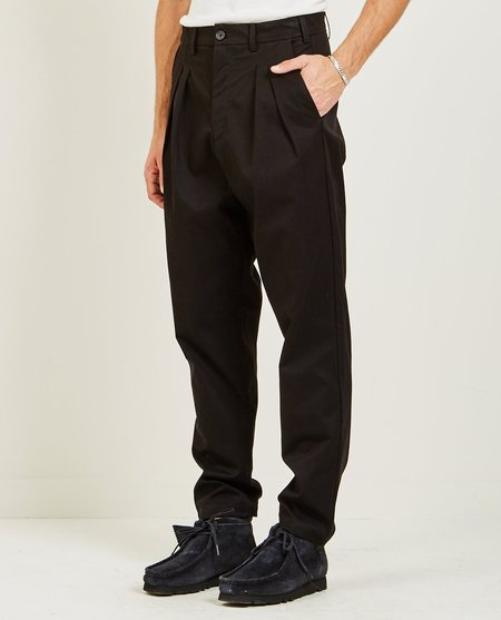 Billy Los Angeles DOUBLE PLEATED TROUSER - BLACK