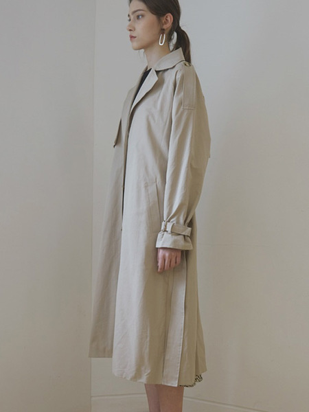 COVERS Single Belted Trench Coat - Beige