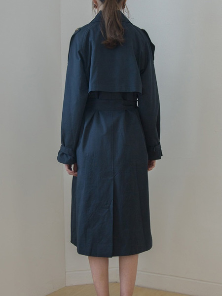 COVERS Single Belted Trench Coat - Navy