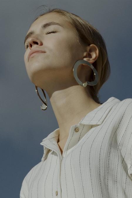 Anne Thomas Ouros Big Hoop Earrings - 18k Gold Filled