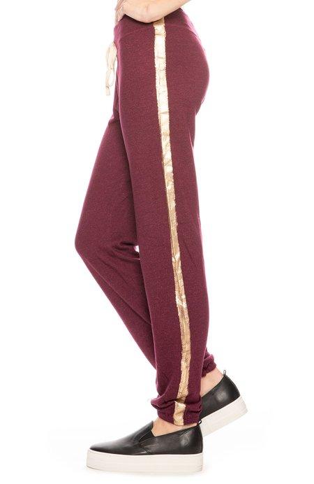 Sundry Side Stripe Sweatpants - Wine