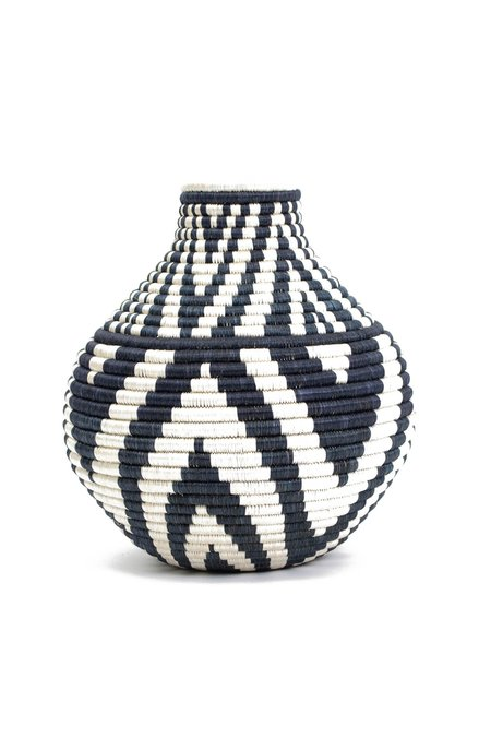 All Across Africa Mbao Vase - Black