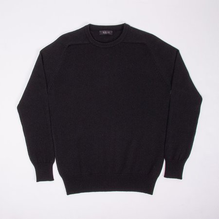 Unis Lambswool Crew Sweater - Black