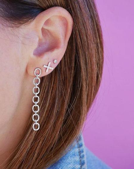 EF Collection DIAMOND X STUD EARRING - WHITE GOLD