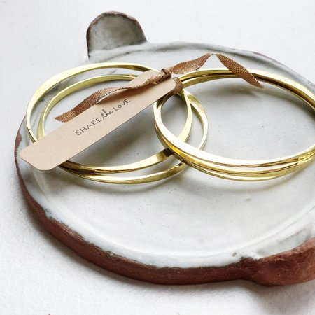 Meus Stacking Brass Hammered Bangles