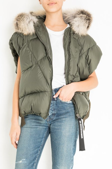 AS65 PUFFER VEST - ARMY