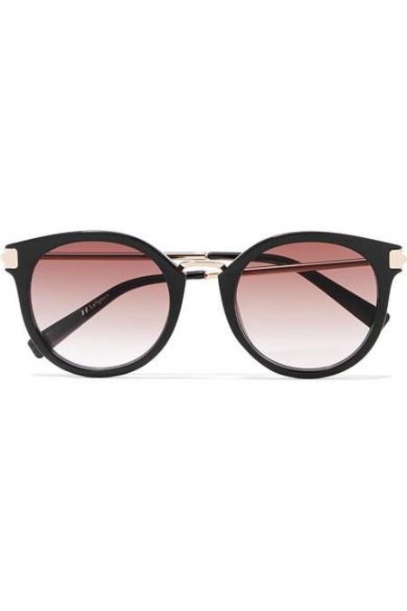 Le Specs Last Dance Round Frame Gold Tone Sunglasses