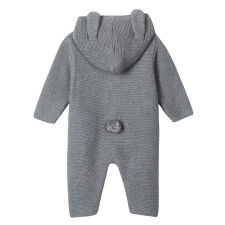 KIDS Stella McCartney Baby Acorn Bunny Knit Jumpsuit With Hood - Grey