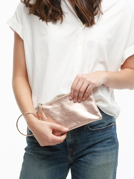 FashionABLE Fozi Wristlet - Rose Metallic