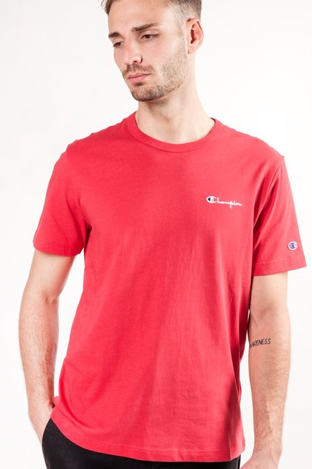 Champion S/S Small Script Logo Tee - Red
