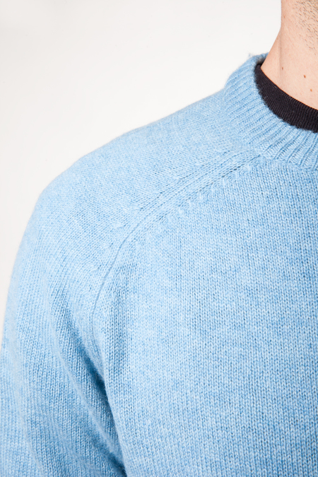 Scotch & Soda Chunky Cashmere Knit - Ski Blue